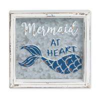 "Sweet Bird & Co™ ""Mermaid At Heart"" Metal Wall Art in Silver"