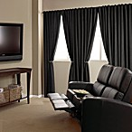 Absolute Zero 84-Inch Velvet Blackout Home Theater Curtain Panel in Black
