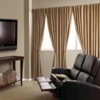 Absolute Zero 63-Inch Velvet Blackout Home Theater Curtain Panel in Cafe