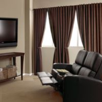 Absolute Zero 95-Inch Velvet Blackout Home Theater Curtain Panel in Chocolate