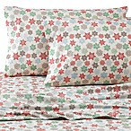 Micro Flannel® Printed Snowflake Queen Sheet Set
