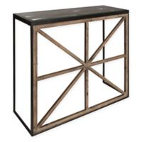 Kate and Laurel Mace Console Table in Rustic Brown