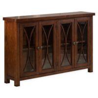 Hillsdale Furniture Bayside 4-Door Cabinet in Rustic Mahogany