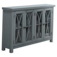 Hillsdale Furniture Bayside 4-Door Cabinet in Robin Egg Blue