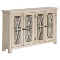 Hillsdale Furniture Bayside 4-Door Cabinet in Antique White
