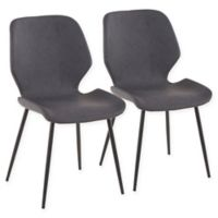Lumisource® Faux Leather Upholstered Serena Dining Chairs in Grey (Set of 2)