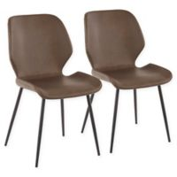 Lumisource® Faux Leather Upholstered Serena Dining Chairs in Brown (Set of 2)