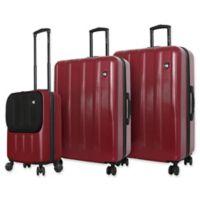 Mia Toro ITALY Reggia 3-Piece Hardside Spinner Luggage Set in Burgundy