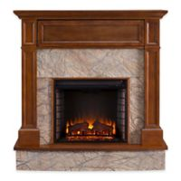 Southern Enterprises Holden Electric Media Fireplace in Whiskey Maple