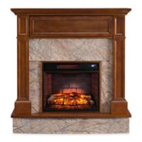 Southern Enterprises Holden Electric Media Fireplace and Infrared Firebox in Whiskey Maple