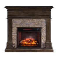 Southern Enterprises Hennington Infrared Media Fireplace in Smoked Ash