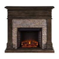 Southern Enterprises Hennington Electric Media Fireplace in Smoked Ash