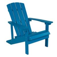 Flash Furniture All-Weather Adirondack Chair in Blue