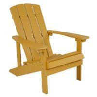Flash Furniture All-Weather Adirondack Chair in Yellow