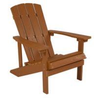 Flash Furniture All-Weather Adirondack Chair in Teak