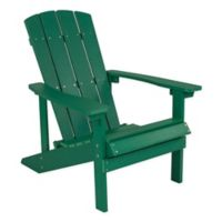 Flash Furniture All-Weather Adirondack Chair in Green