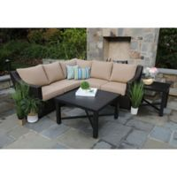 Alder 5-Piece Sectional Set in Beige Sunbrella Fabric
