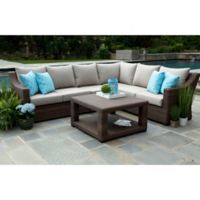 Alder 5-Piece Sectional Set in Ash Sunbrella Fabric