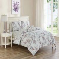 Sara 12-Piece Reversible Queen Comforter Set in Plum