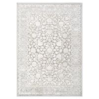 "Home Dynamix Infinity Floral Bordered 3'6"" x 5'6"" Area Rug in Grey"