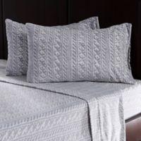 Berkshire Blanket® Microfleece Knit King Sheet Set in Grey