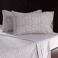 Berkshire Blanket® Microfleece Knit King Sheet Set in Linen