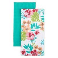 Homewear Linens Hibiscus Kitchen Towels (Set of 2)
