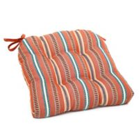 Diaz Striped Chair Pad in Spice