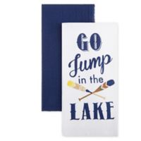 """Homewear Linens """"Go Jump In The Lake"""" Kitchen Towels (Set of 2)"""
