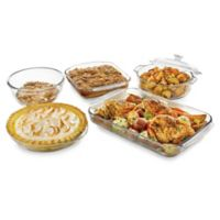 Libbey® Glass Bakers 5-Piece Bakeware Set in Clear