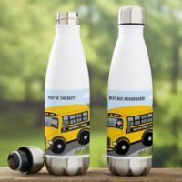 Bus Driver Character Personalized Water Bottle