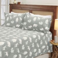 Great Bay Home™ Lodge Full Sheet Set in White/Light Grey