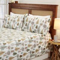 Great Bay Home™ Lodge King Sheet Set in Beige/Green