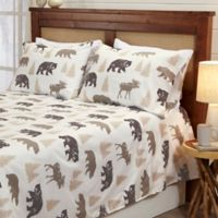 Great Bay Home™ Lodge King Sheet Set in White/Brown