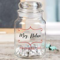 Teacher's Treats Personalized Glass Treat Jar