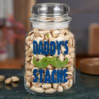His Stache Personalized Candy Jar