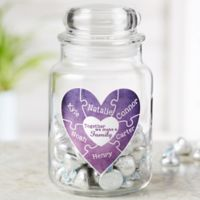 Together We Make A Family Personalized Glass Treat Jar