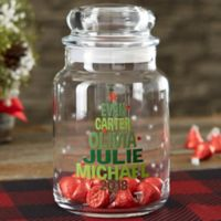 Christmas Family Tree Personalized Candy Jar