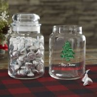 Christmas Tree Personalized Candy Jar
