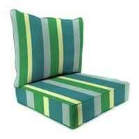 Stripe 24-Inch x 24-Inch 2-Piece Deep Seat Chair Cushion in Sunbrella® Gateway Multi