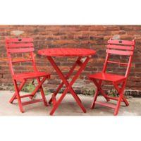 3-Piece Red Bistro Set