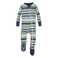 Burt's Bees Baby® Size 0-3M Vintage Stripe Sleeper in Green