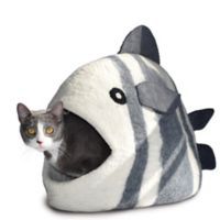 Fish Large Wool Pet Cave in White