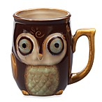 Gibson Home Nature's Owl 12-Ounce Mug in Brown
