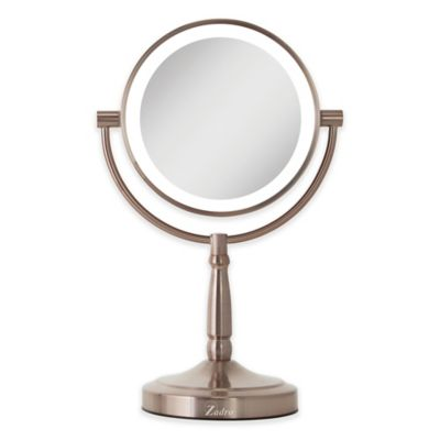d83ef2a33f5c Zadro™ 10x/1x Cordless LED Lighted Vanity Mirror in Rose Gold