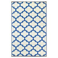 Fab Habitat® Tangier 8' X 10' Made of recycled materials Area Rug in Blue/white
