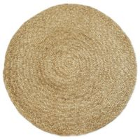 Fab Habitat™ Yellowstone 8' Round Woven Area Rug in Natural