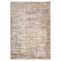 """Rizzy Home Abstract 3'11"""" X 5'6"""" Powerloomed Area Rug in Beige"""