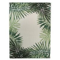 Destination Summer Miami Palm Indoor/Outdoor 5'3 x 7' Area Rug in Green