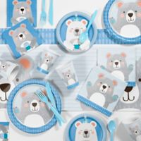 Creative Converting™ 81-Piece Bear Birthday Party Supplies Kit in Blue